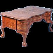 Exceptional Freestanding Antique Dutch Marquetry Desk