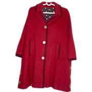 Vintage Wool Cape in Designer Fashion