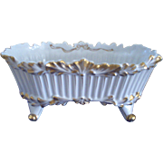 Lovely Porcelain Vanity Footed Receptacle