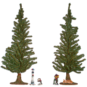 Christmas & Forever Evergreen 2ft. Trees with Velvet Tree Skirts