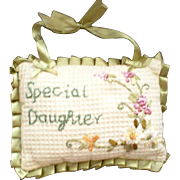 Mother & Daughter Individually Embroidered Small Pillows-2 Available for Christmas Giving