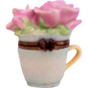 For Daughter on Christmas, Mother's Day, Birthday Trinket Tea Cup --by M.Bastin