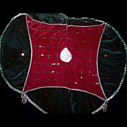 Velvet Skirt with Beading for Christmas Tree