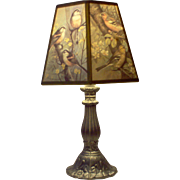 Pretty Bird-Shaded Lamp