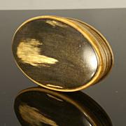 Georgian Oval Horn Snuff Box
