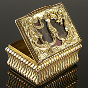 Stunning Early 19th Century Gilded French Box with Tortoiseshell