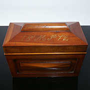 Beautiful Antique Mahogany Tea Caddy