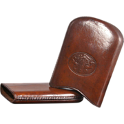 Antique Leather Cigar Case