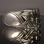Art Nouveau Pewter Paper Clip