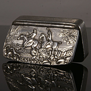 Superb Antique Pewter Snuff Box