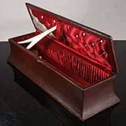 Large Antique Glove Box