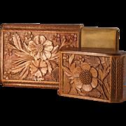 Antique Black Forest Cigar Case