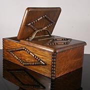 Antique Oak  Cigar Humidor