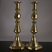 Antique Beehive and Diamond Candlesticks