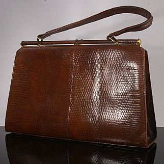 Lizard Skin Handbag