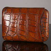 Antique Crocodile Cigar Case