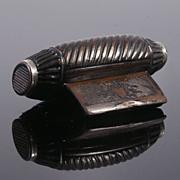 Very  Decorative 18th Century Papier Mache Snuff Box