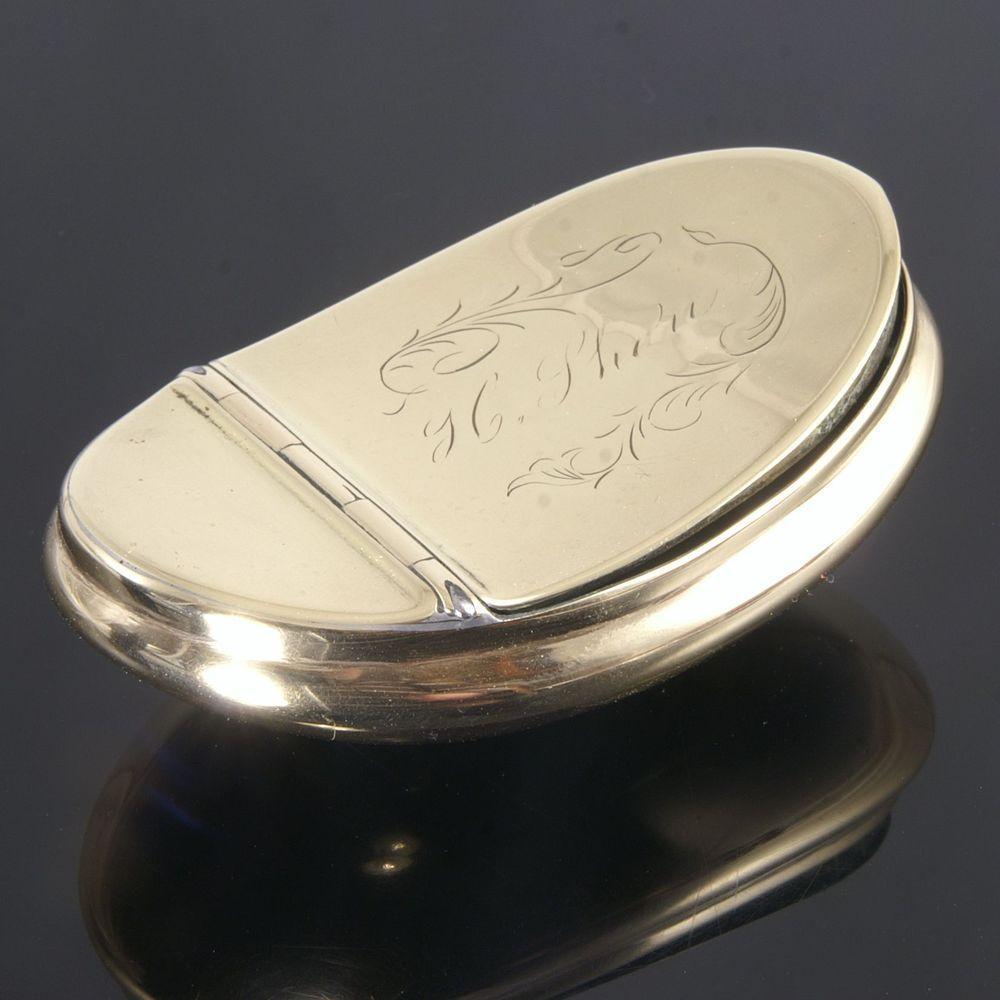 Attractive Victorian Brass Snuff Box