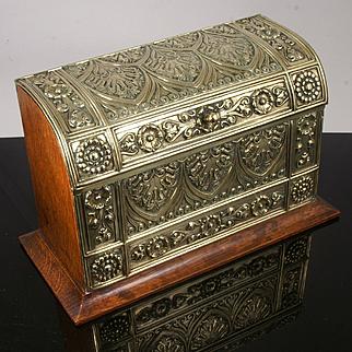Antique Brass Stationery Box