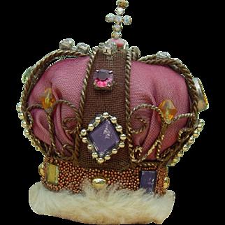 Vintage handmade crown for doll