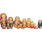 Vintage Russian nesting dolls - Red Tag Sale Item