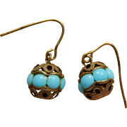 Antique French bebe earrings
