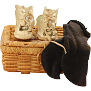 French fashion shoes & socks in basket