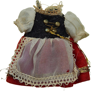 Vintage dress for dollhouse doll, Free Shipping