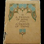 Antique scrapbook for dolls