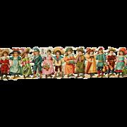 Tuck die cut children: girl w/doll