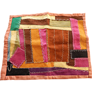 Small old wool crazy quilt