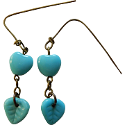 "Gorgeous ""Jumeau blue"" doll earrings"