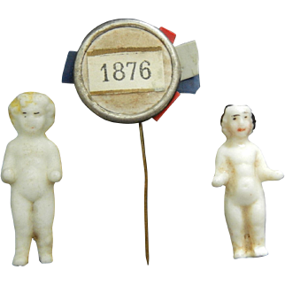 Frozen Charlotte dolls & 1876 pin