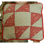 Antique quilt doll bed pillow