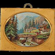 Antique dollhouse picture-scenic