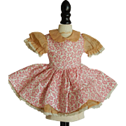 Small vintage factory doll dress
