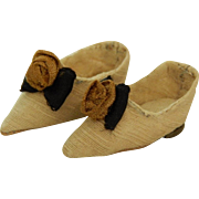"Old small shoes 10""-11"" French fashion"