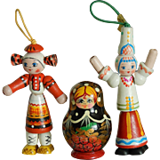 Vintage Russian wooden toys