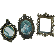 Vintage Italy dollhouse mirror frames lot