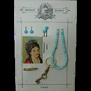 Antique French fashion doll accessory card