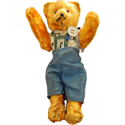 """Cute antique jointed mohair bear, 7"""""""