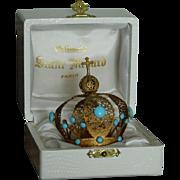 Paris antique crown in box French fashion