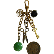 Antique French fashion chatelaine charms