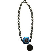 Antique micro mosaic satin glass necklace