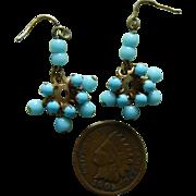 Fabulous antique doll earrings