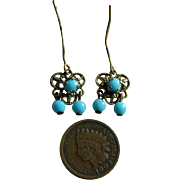 Gorgeous antique doll earrings