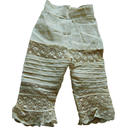 Fabulous antique doll pantaloons
