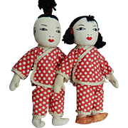 Vintage HM Japanese cloth dolls