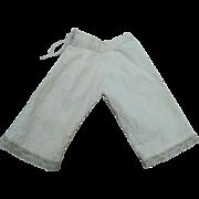Antique handmade doll pantaloons
