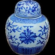 Lovely old blue willow ginger jar for doll